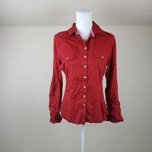 Converse Red Button Down Shirt